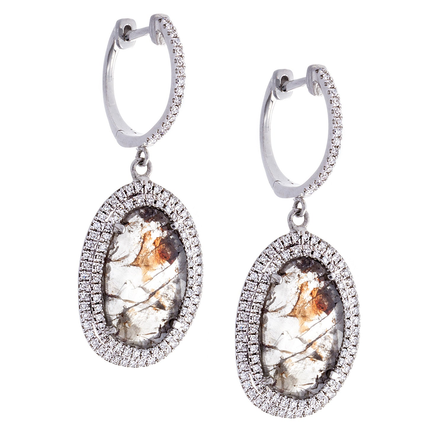 Diamonds & 14K White Gold Drop Earrings