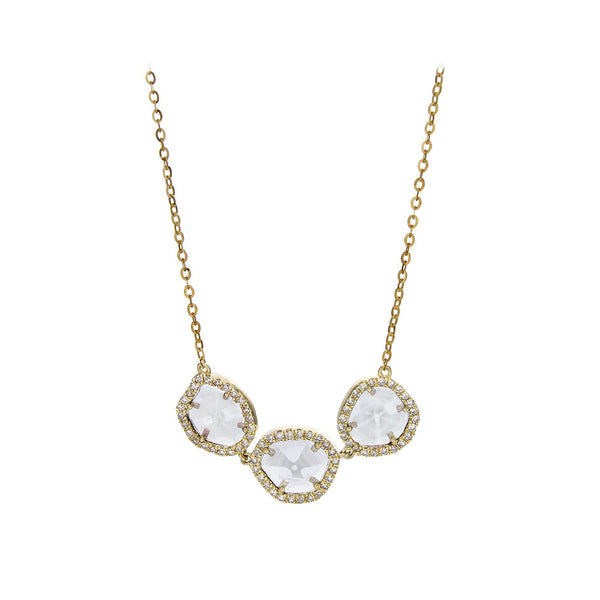 Sliced Diamond & Pavé 14K Yellow Gold Necklace - SOLD/CAN BE SPECIAL ORDERED WITH 4-6 WEEKS DELIVERY TIME FRAME