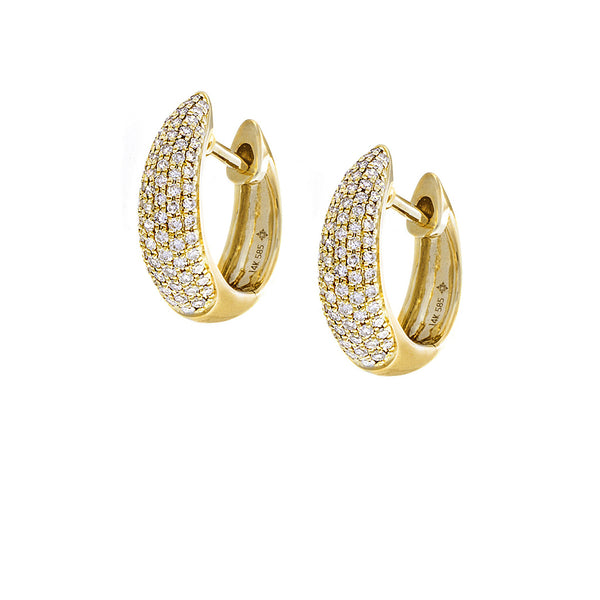 Diamond & 14K Yellow Gold Hoop Earrings - SOLD/CAN BE SPECIAL ORDERED WITH 4-6 WEEKS DELIVERY TIME FRAME