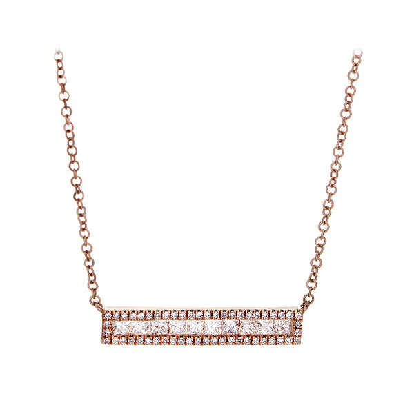 Diamond Bar Necklace - SOLD/CAN BE SPECIAL ORDERED WITH 4-6 WEEKS DELIVERY TIME FRAME