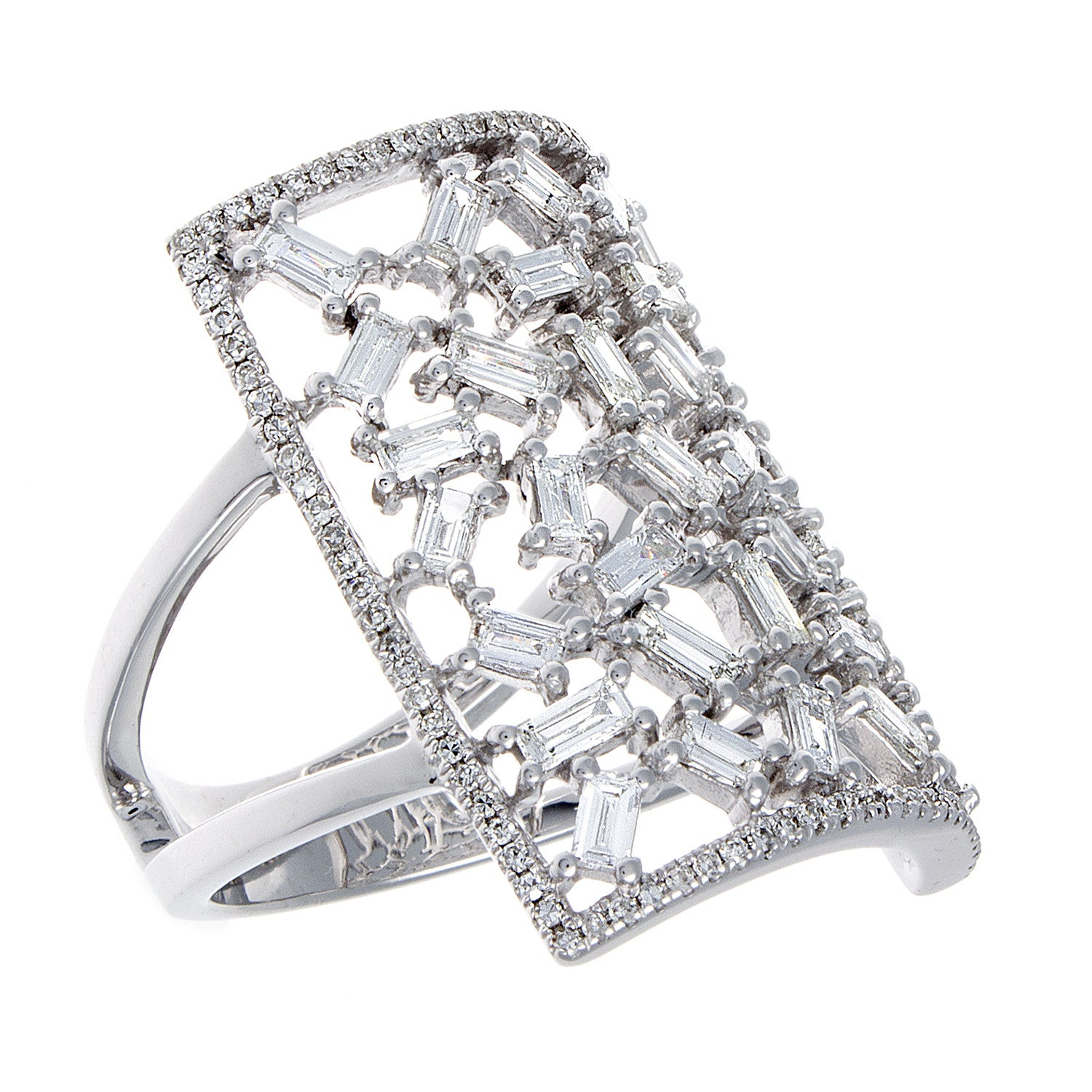 Diamond Encrusted Cuff Ring