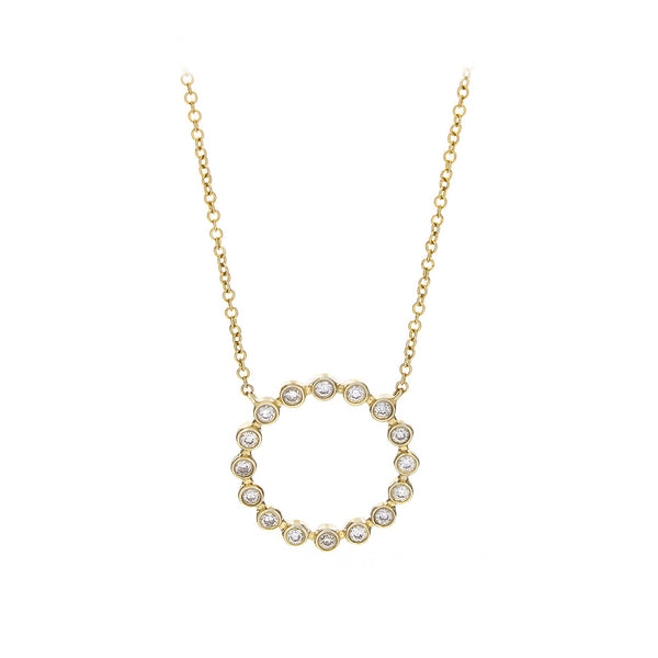 Diamond Ring Necklace & 14K Yellow Gold