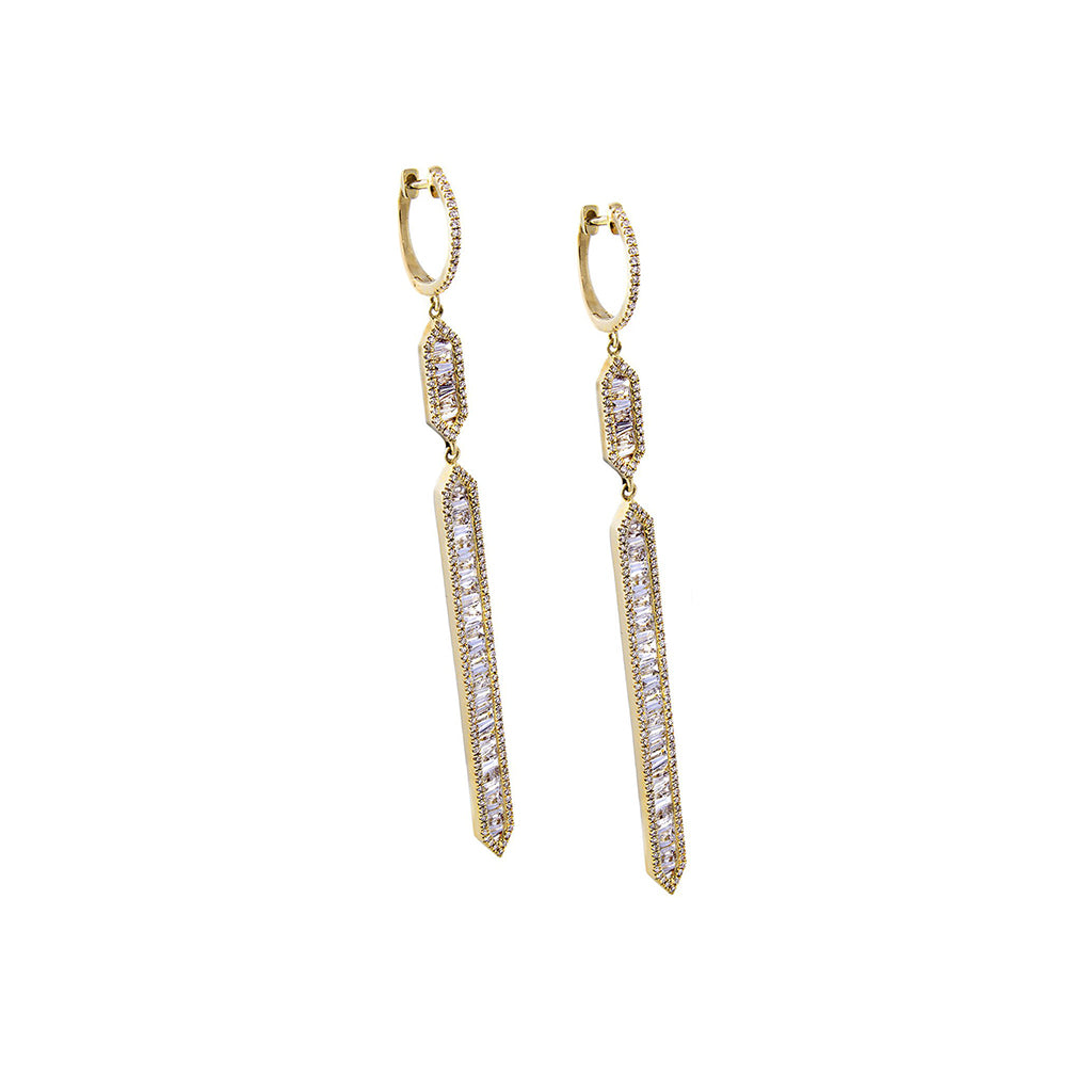 Diamond Deco Drop Earrings - SOLD/CAN BE SPECIAL ORDERED WITH 4-6 WEEKS DELIVERY TIME FRAME