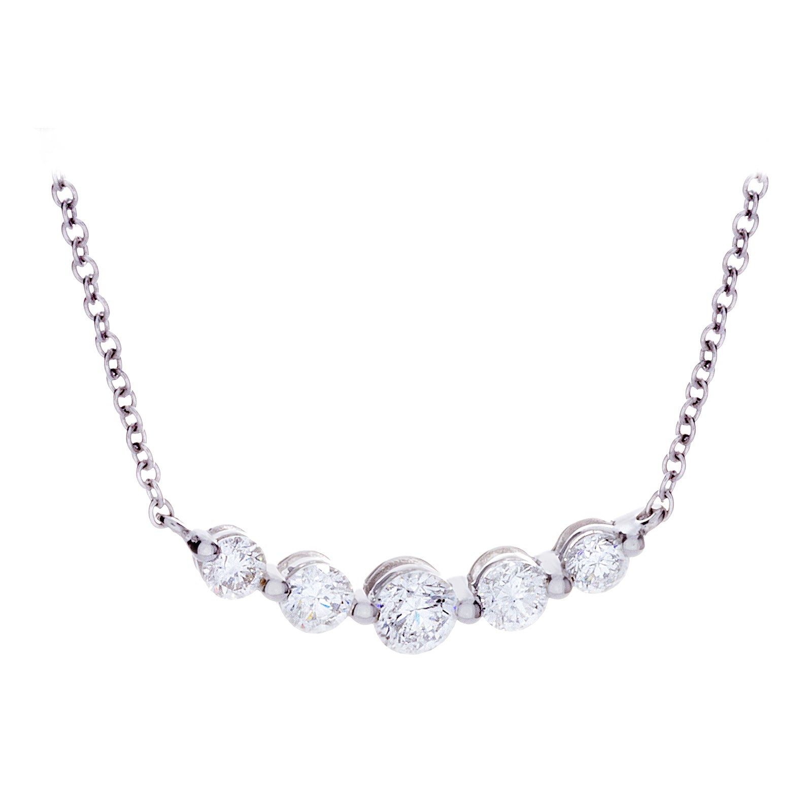 Diamonds & 14K White Gold Necklace - SOLD/CAN BE SPECIAL ORDERED WITH 4-6 WEEKS DELIVERY TIME FRAME