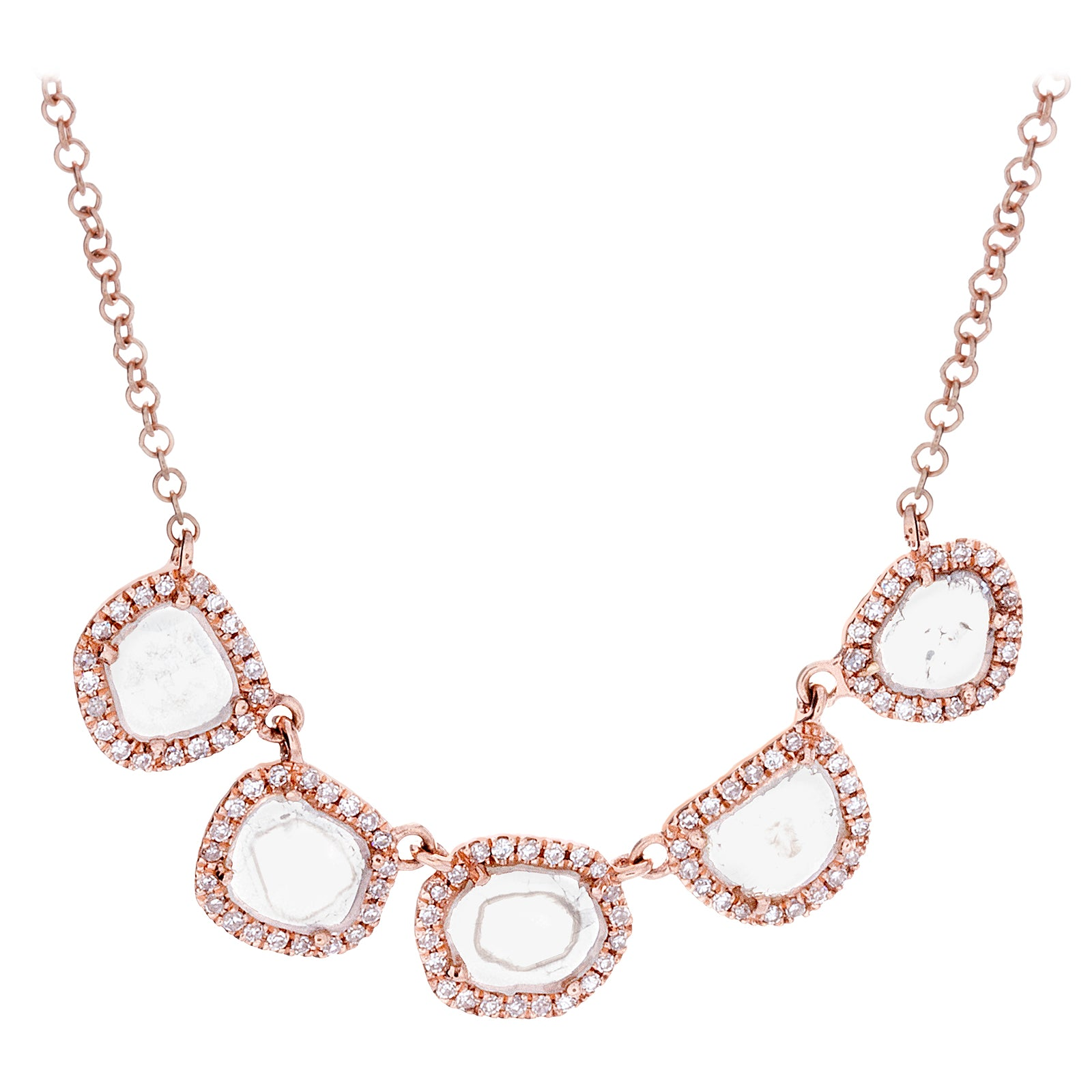 Diamonds & 14K Rose Gold Necklace - SOLD