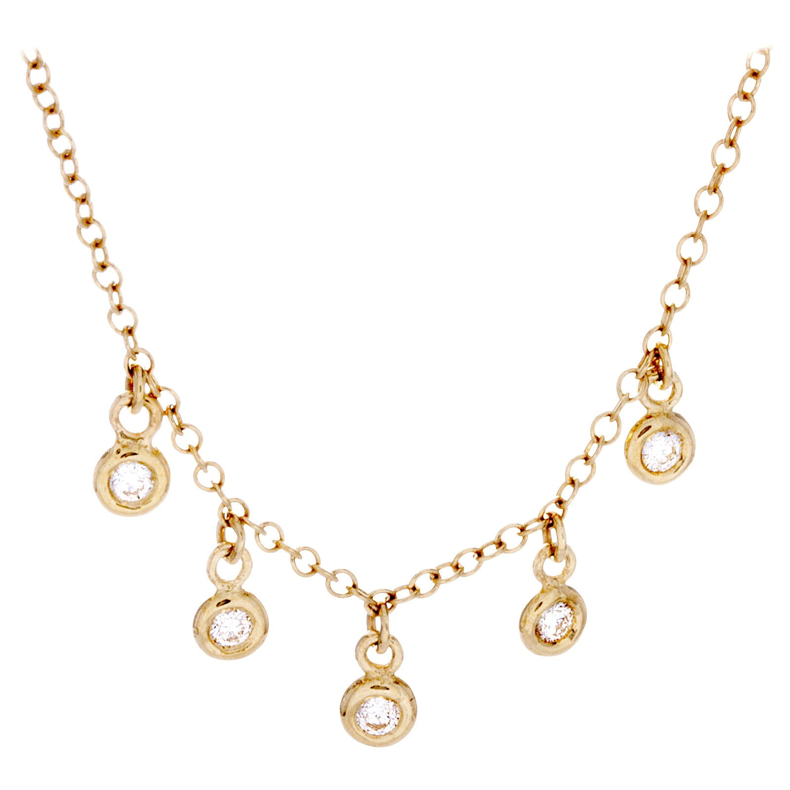 Diamonds & 14K Yellow Gold Necklace - SOLD/CAN BE SPECIAL ORDERED WITH 4-6 WEEKS DELIVERY TIME FRAME
