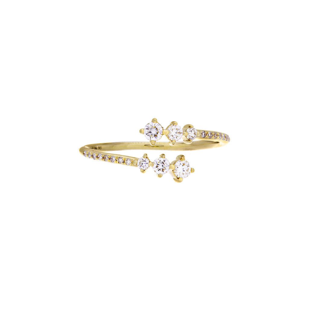 Diamonds & 14K Yellow Gold Open Ring - SOLD/CAN BE SPECIAL ORDERED WITH 4-6 WEEKS DELIVERY TIME FRAME
