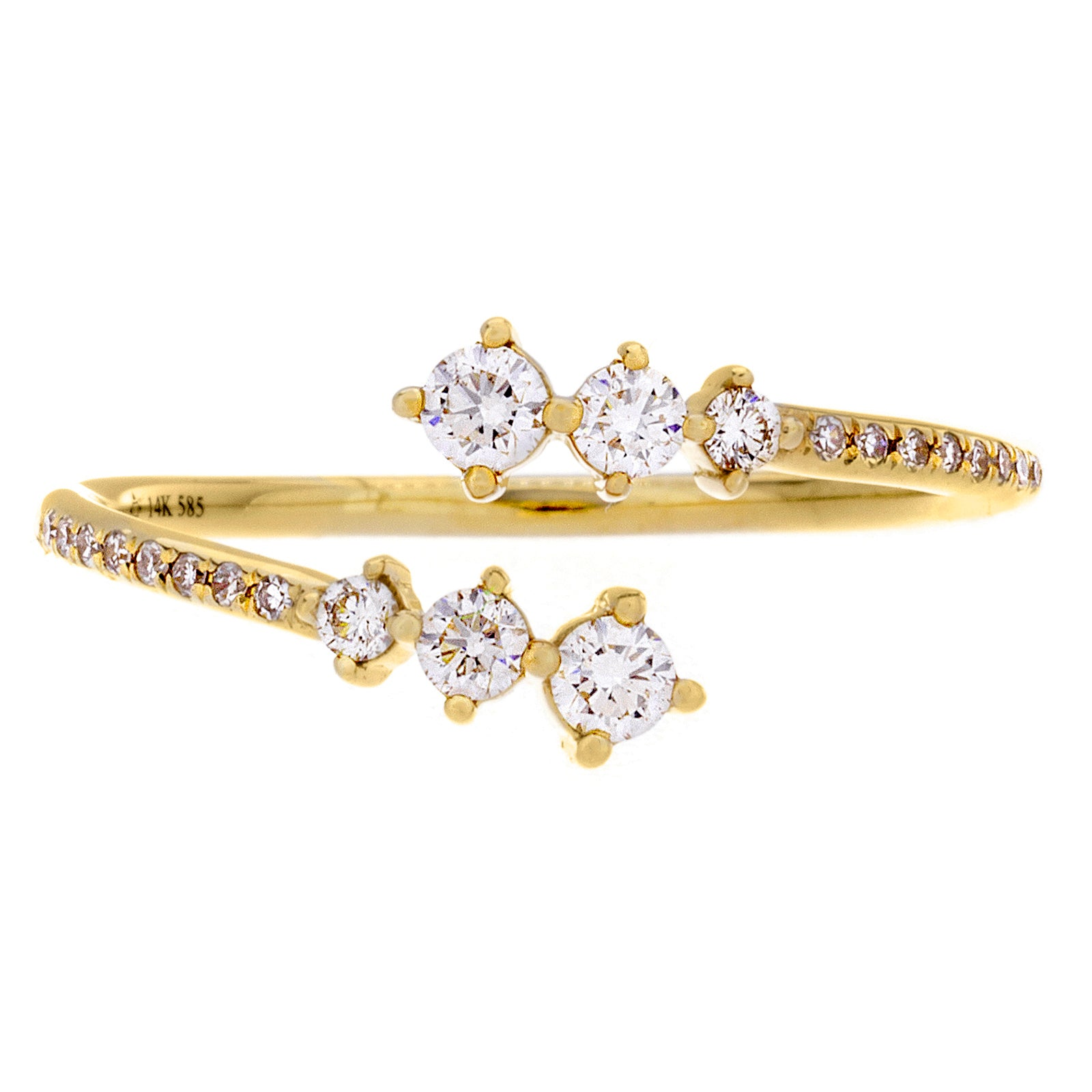 Diamonds & 14K Yellow Gold Open Ring