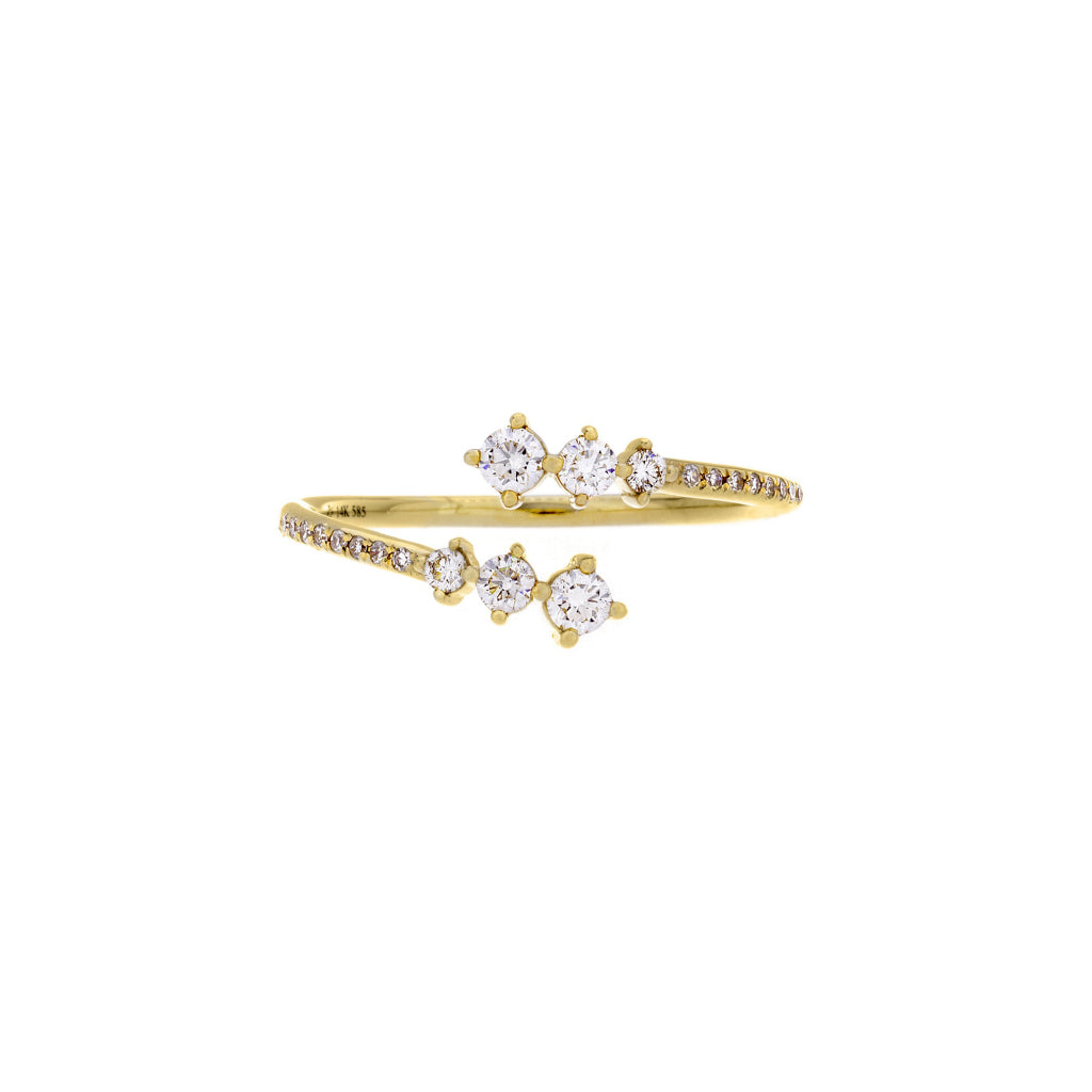 Diamonds & 14K Yellow Gold Open Ring- SOLD/CAN BE SPECIAL ORDERED WITH 4-6 WEEKS DELIVERY TIME FRAME