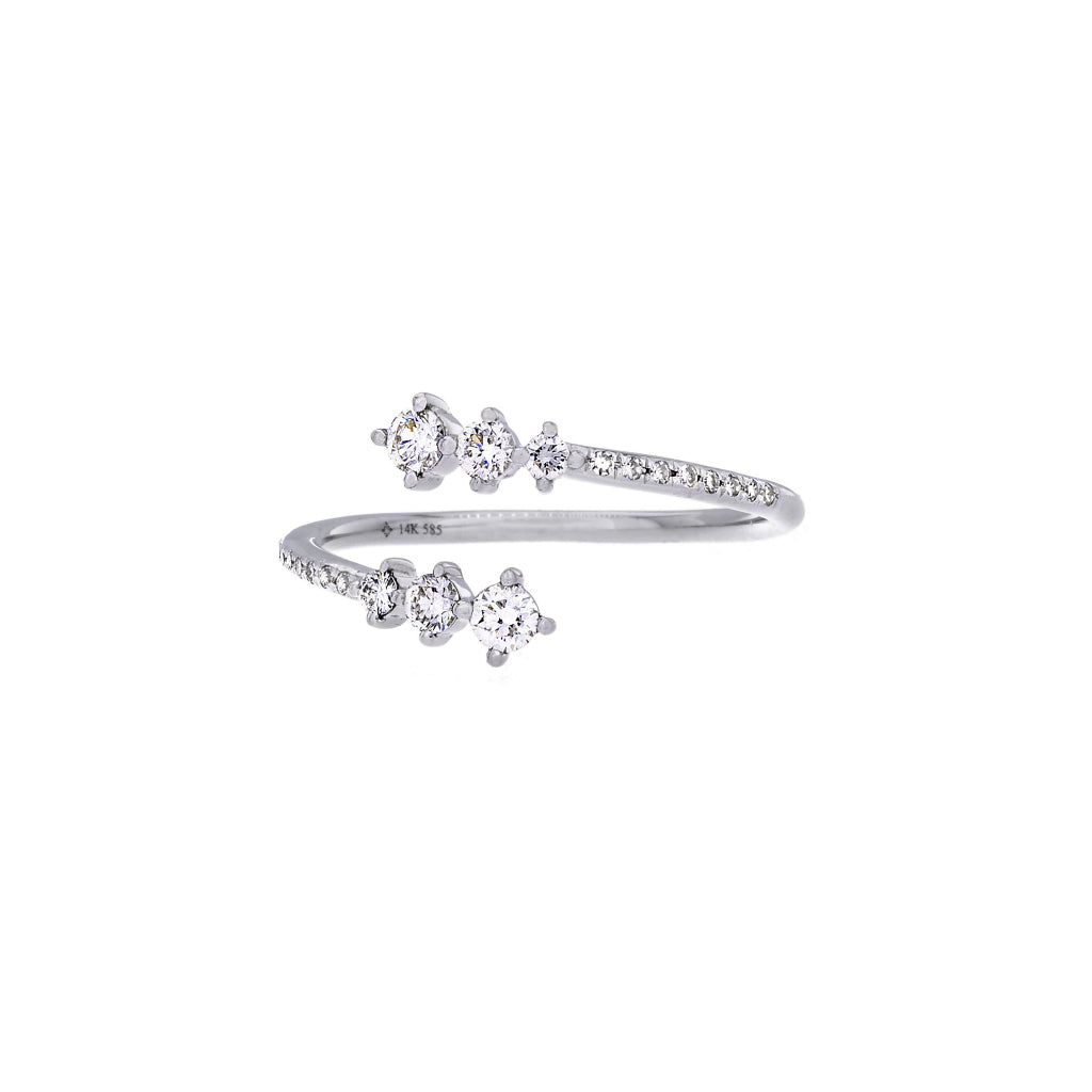 Diamonds & 14K White Gold Open Ring - SOLD/CAN BE SPECIAL ORDERED WITH 4-6 WEEKS DELIVERY TIME FRAME