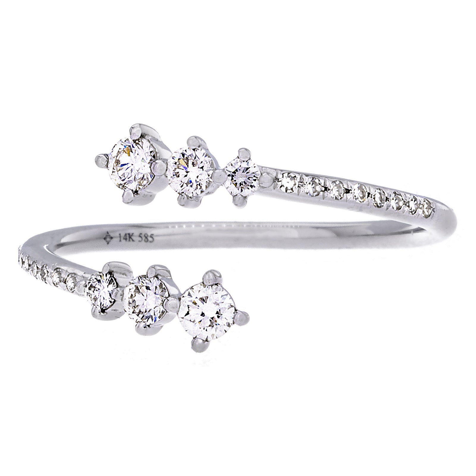 Diamonds & 14K White Gold Open Ring - SOLD