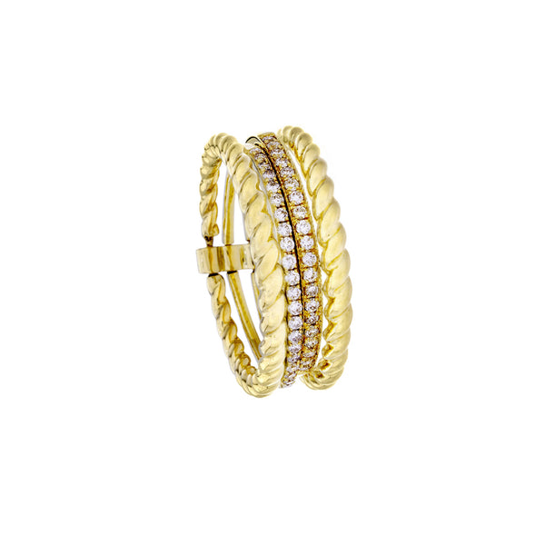 Diamonds & 14K Yellow Gold Multi Band Ring - SOLD