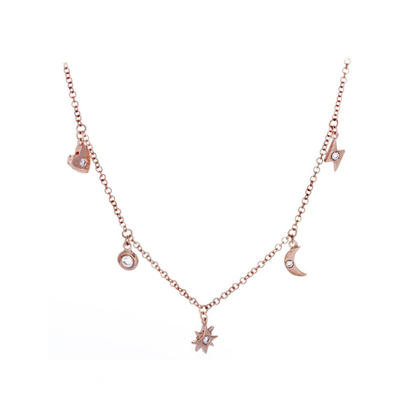 Diamond & 14K Rose Gold Necklace