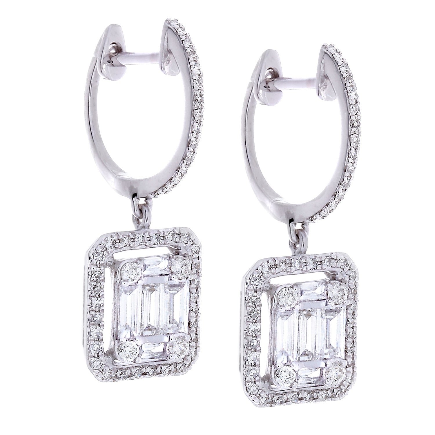 Diamonds & 14K White Gold Earrings - SOLD/CAN BE SPECIAL ORDERED WITH 4-6 WEEKS DELIVERY TIME FRAME
