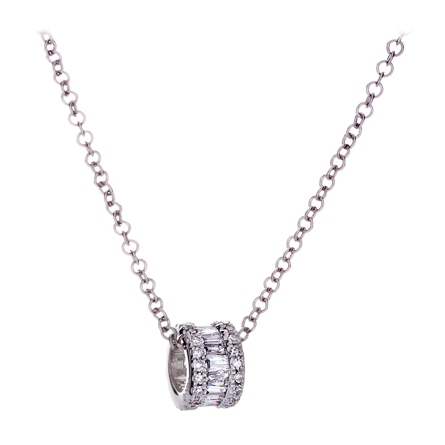 Diamonds White Gold Necklace - SOLD/CAN BE SPECIAL ORDERED WITH 4-6 WEEKS DELIVERY TIME FRAME