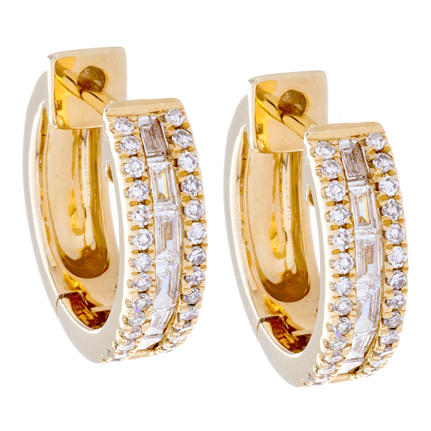 Diamonds & 14K Yellow Gold Earrings - SOLD
