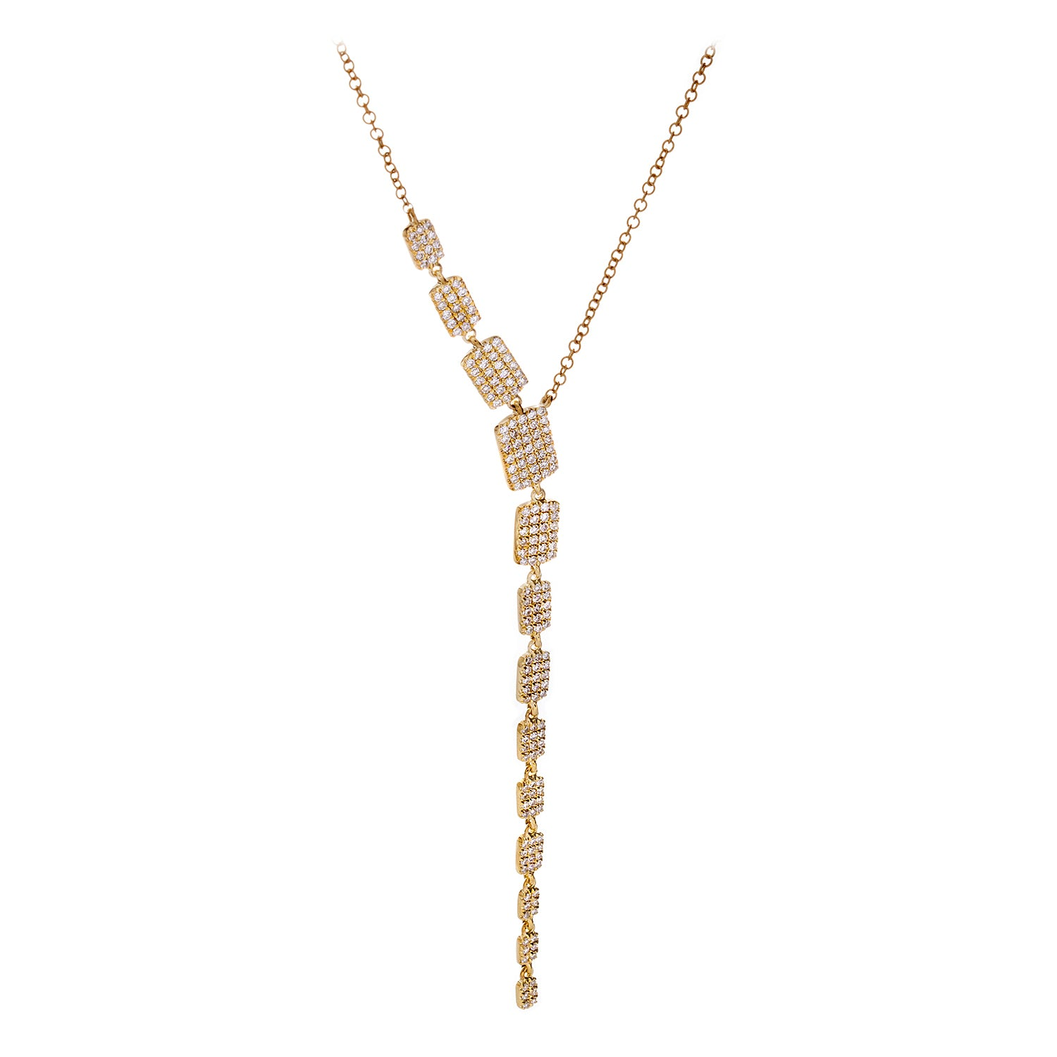 Diamonds & 14K Yellow Gold Lariat Necklace