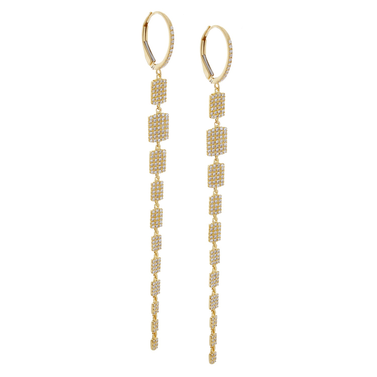 Diamonds Dangle Yellow Gold Earrings - SOLD/CAN BE SPECIAL ORDERED WITH 4-6 WEEKS DELIVERY TIME FRAME