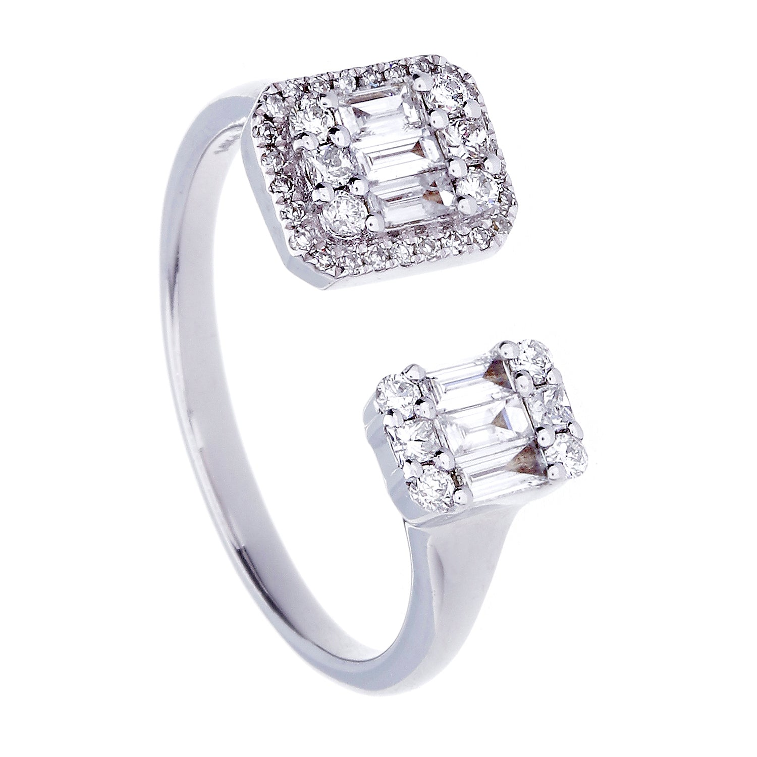 Diamonds & 14K White Gold Open Ring
