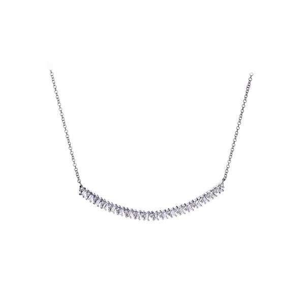 Diamond & 14K White Gold Necklace