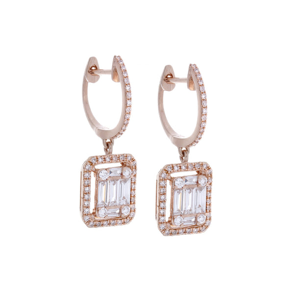 Diamonds & 14K Rose Gold Earrings