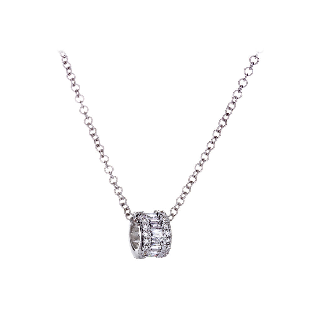 Diamonds White Gold Necklace - SOLD