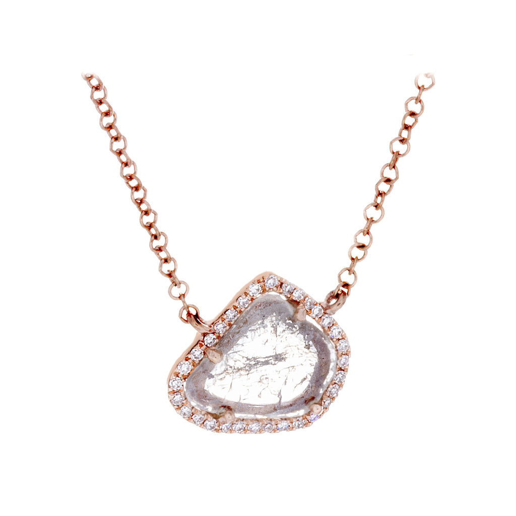 Diamonds & 14K Rose Gold Necklace - SOLD/CAN BE SPECIAL ORDERED WITH 4-6 WEEKS DELIVERY TIME FRAME