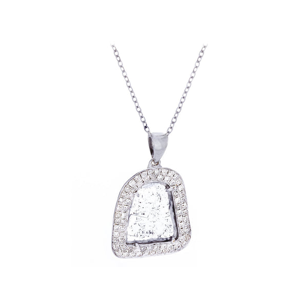 Diamonds & 14K White Gold Necklace