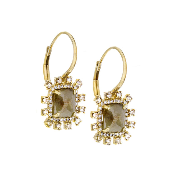 Diamonds & 14K Yellow Gold Earrings