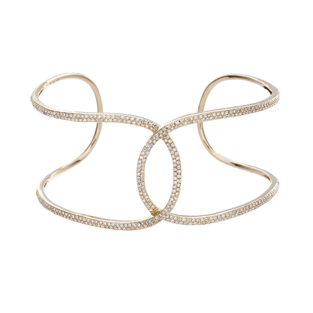 Diamond & 14K Yellow Gold Bracelet