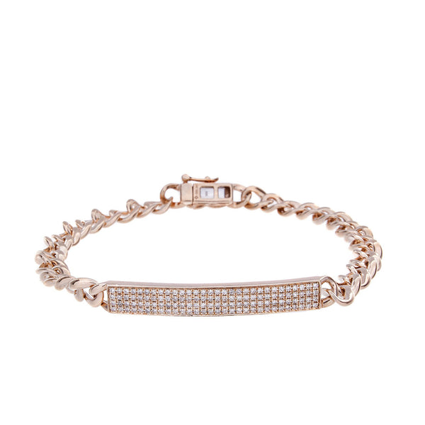 Diamond & 14K Rose Gold Bracelet - SOLD/CAN BE SPECIAL ORDERED WITH 4-6 WEEKS DELIVERY TIME FRAME