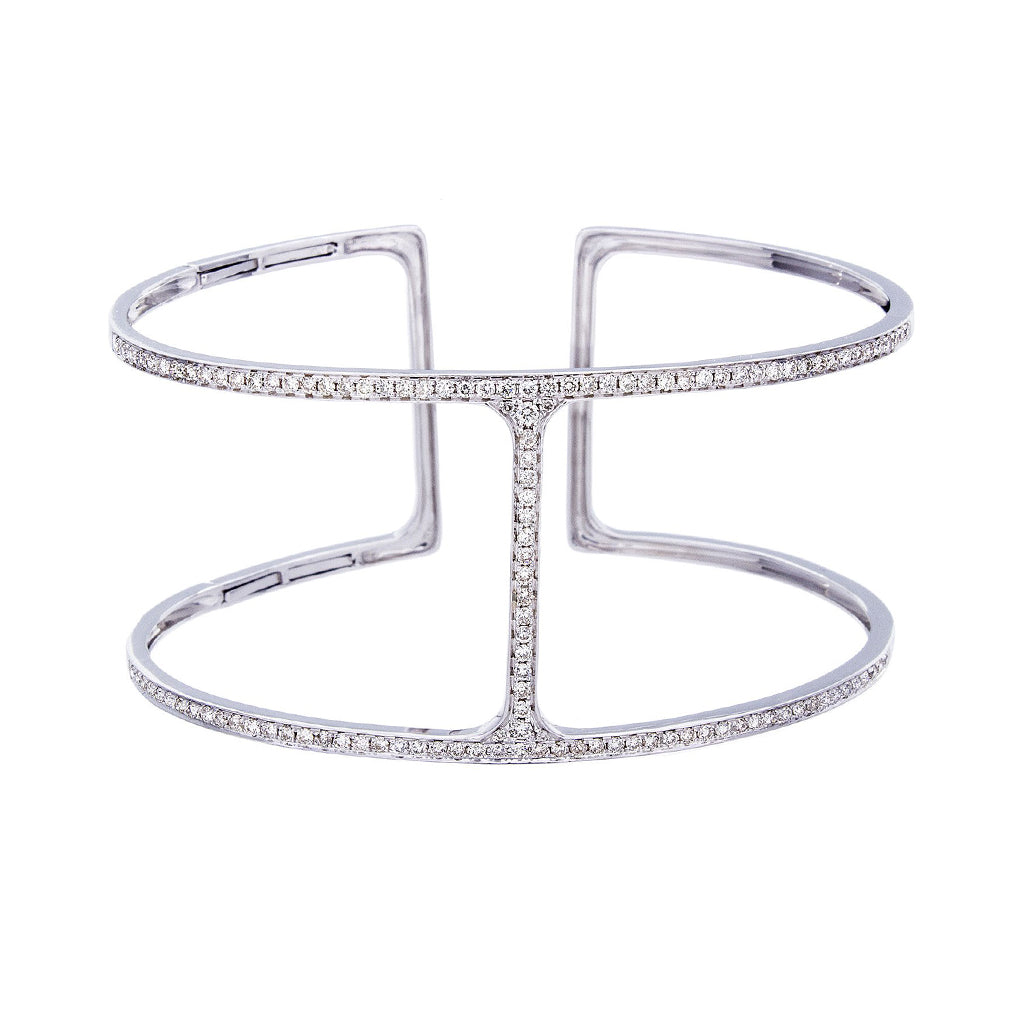 Diamond & 14K White Gold Bracelet - SOLD/CAN BE SPECIAL ORDERED WITH 4-6 WEEKS DELIVERY TIME FRAME