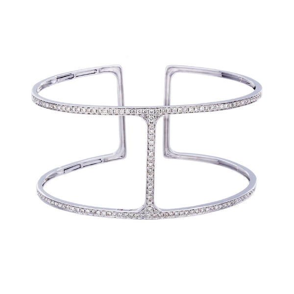 Diamond & 14K White Gold Bracelet - SOLD