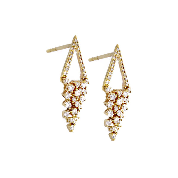 Diamond & 14K Yellow Gold Earrings