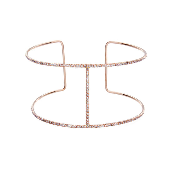 Diamond & 14K Rose Gold Bracelet-SOLD/CAN BE SPECIAL ORDERED WITH 4-6 WEEKS DELIVERY TIME FRAME