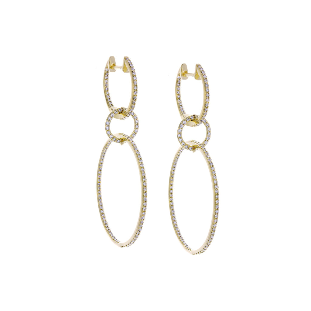 Diamonds & 14K Yellow Gold Earrings - SOLD/CAN BE SPECIAL ORDERED WITH 4-6 WEEKS DELIVERY TIME FRAME