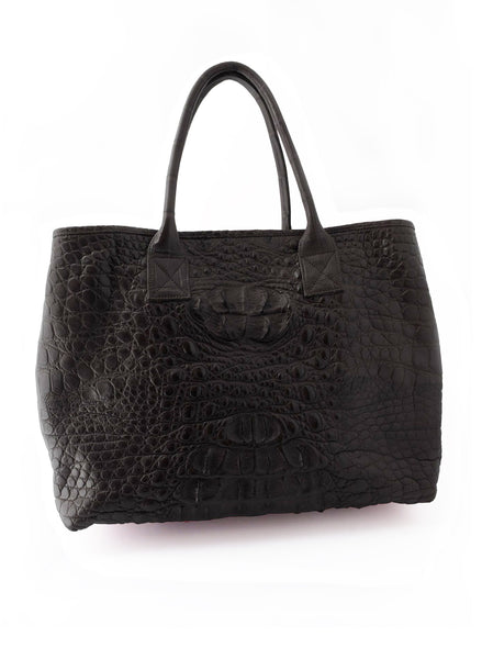 Rolls Royce Medium African Crocodile Bag - Black