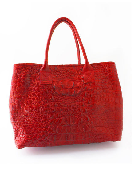Rolls Royce Medium African Crocodile Bag - Maldives Red
