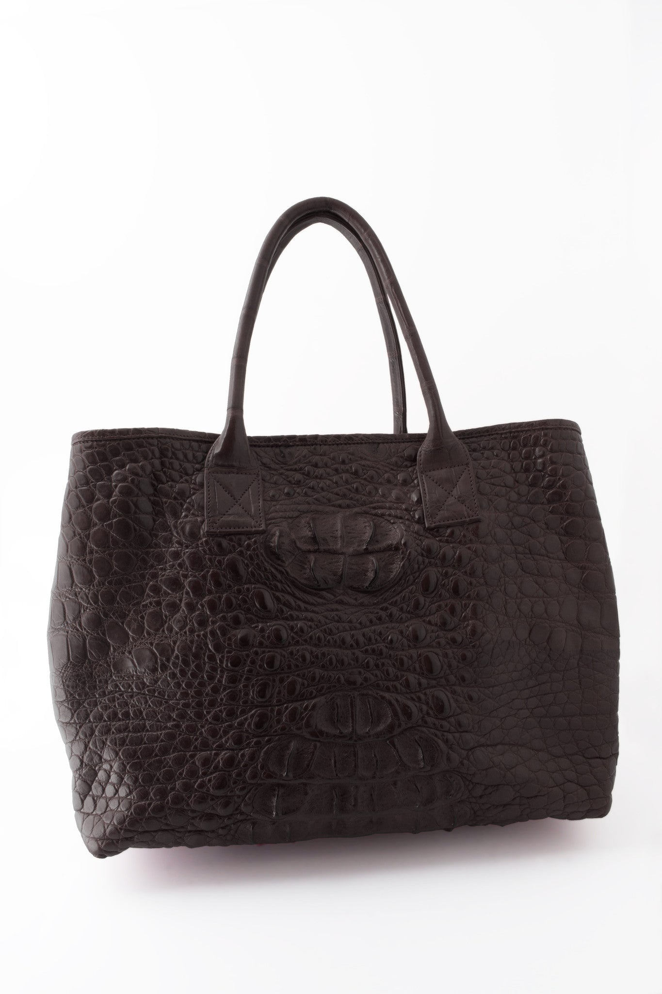 Rolls Royce Medium African Crocodile Bag - Charcoal Gray