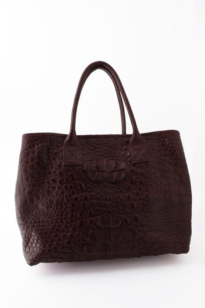 Rolls Royce Medium African Crocodile Bag - Chocolate Brown