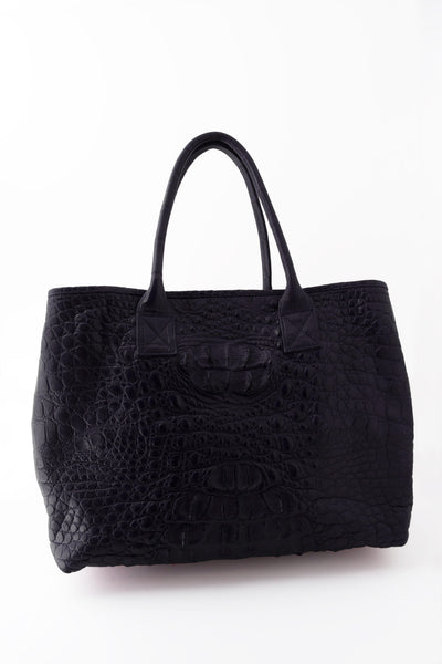 Rolls Royce Medium African Crocodile Bag - Navy Blue