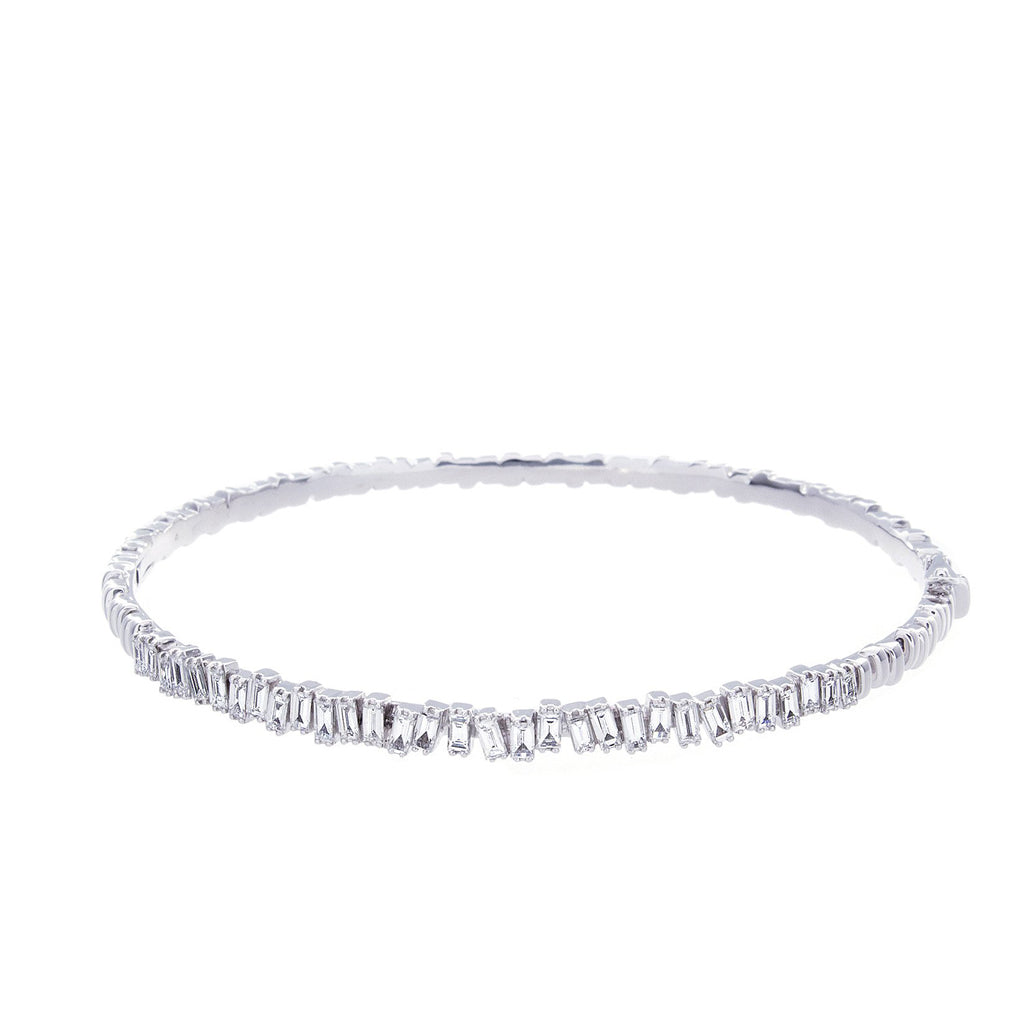 Suzzanne Kalan Diamond Baguette & 14K White Gold Bracelet-SOLD/CAN BE SPECIAL ORDERED WITH 4-6 WEEKS DELIVERY TIME FRAME