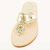 Classic Platinum & Gold Leather PB Sandal