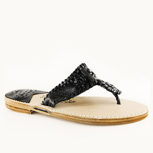 Classic Black & Black Patent Leather PB Sandal