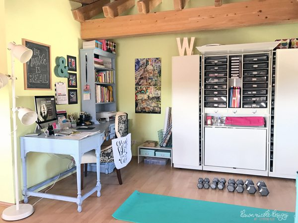 Craft Room Office Reveal Bydawnnicolecom Small My Studio Space