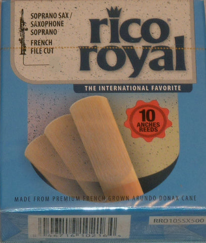 Rico Royal Soprano Saxophone Reeds, Strength 3.5, 10-pack