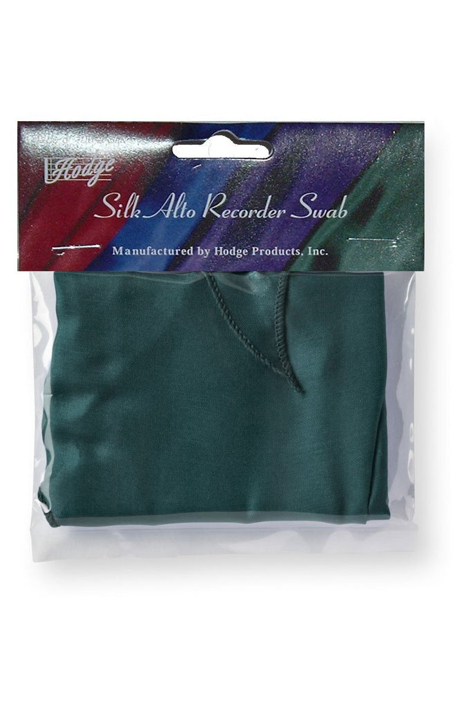 Hodge Silk Alto Recorder Swab - Green