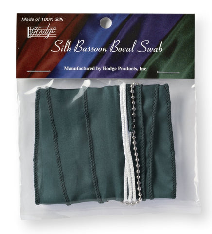 Hodge Silk Bassoon Bocal Swab - Green