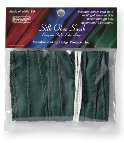 Hodge Silk Long Oboe Swab - Green
