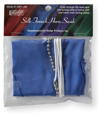 Hodge Silk French Horn Swab - Blue